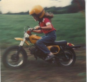 Speed Demon - me, age 7